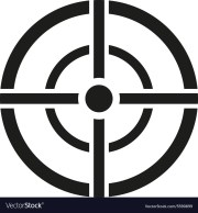 aim bag icon crosshair