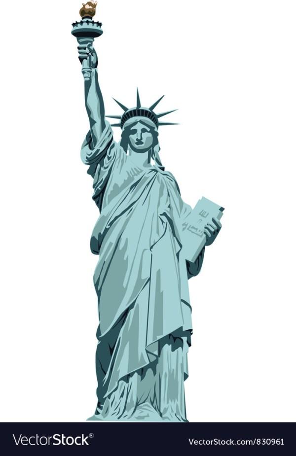 Statue of Liberty Royalty Free Vector Image VectorStock