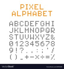 Pixel Letters And Numbers - Year of Clean Water