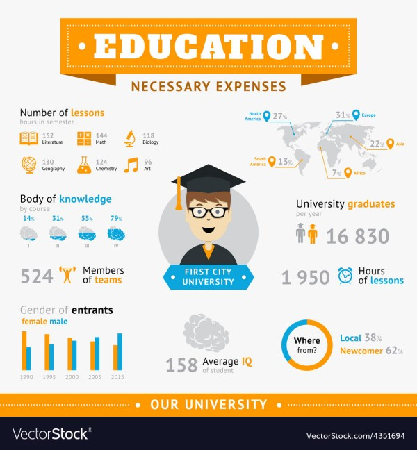 Education Infographic Design Template Royalty Free Vector