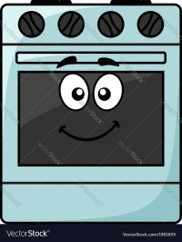 Fun kitchen appliance - a happy oven Royalty Free Vector