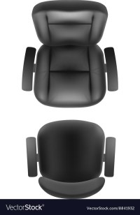 Office chair and boss armchair top view Royalty Free Vector