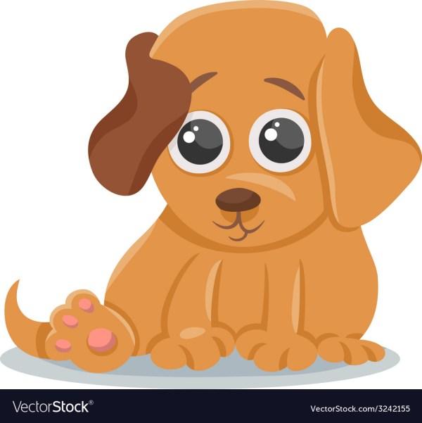 Baby dog puppy cartoon Royalty Free Vector Image