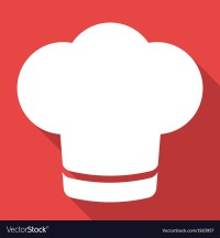 Chef cap icon Cooking hat Royalty Free Vector Image