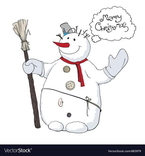 Cute Snowman Royalty Free Vector - Vectorstock
