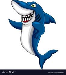 shark cartoon angry vector vectorstock