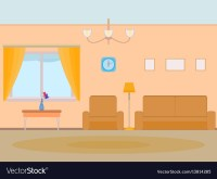 Cartoon background living room Royalty Free Vector Image