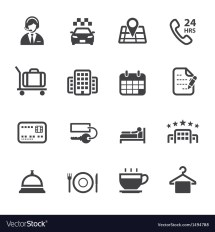 Hotel And Services Icons Royalty Free Vector
