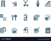 Hotel Service Icons Piccolo Royalty Free Vector