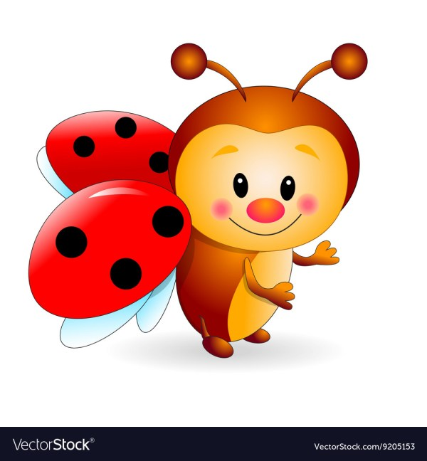 cute ladybug royalty free vector