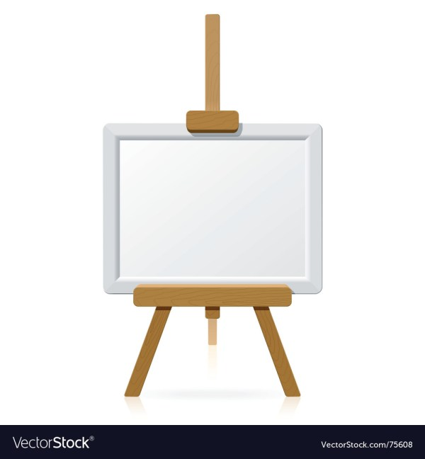Blank Painting Canvas with Easel
