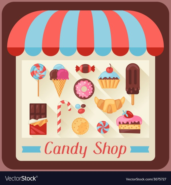 Candy Background With Sweets And Cakes Royalty