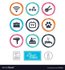 Hotel Apartment Service Icons Wi-fi Internet Royalty Free