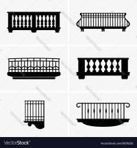 Balconies Royalty Free Vector Image
