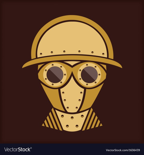 Steampunk - Vintage Character Design Goggles Vector