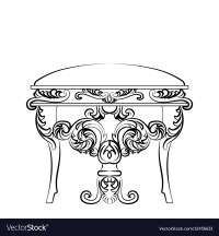 Royal Baroque Classic chair furniture Royalty Free Vector ...