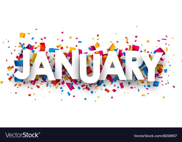 january sign royalty free vector