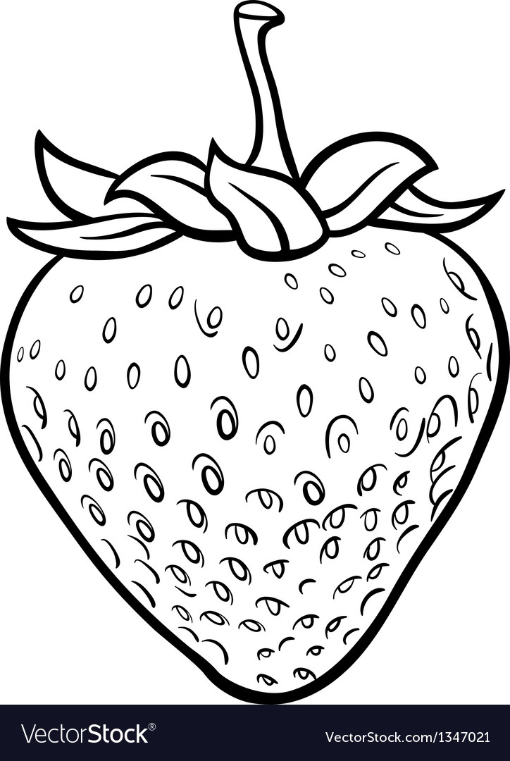 Strawberry for coloring book Royalty Free Vector Image