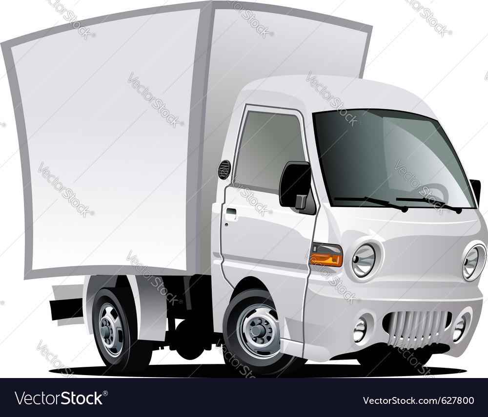 Cartoon Delivery Truck Royalty Free Vector Image