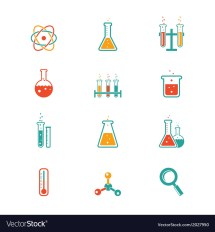 Chemistry Icons Royalty Free Vector - Vectorstock