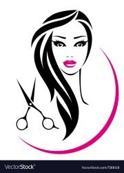 hair salon sign with pretty woman