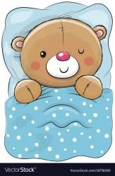 teddy bear sleeping cartoon cute vector royalty