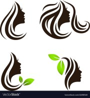 woman beauty and spa salon logo