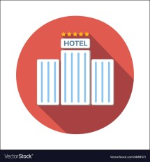 Hotel Flat Icon Royalty Free Vector - Vectorstock