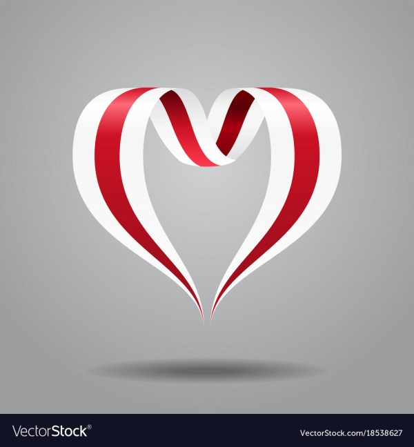 Belarusian Flag Heart-shaped Ribbon Royalty Free Vector