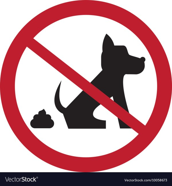 Dog Pooping Sign Icon Royalty Free Vector