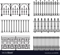 Railings and fences Royalty Free Vector Image - VectorStock