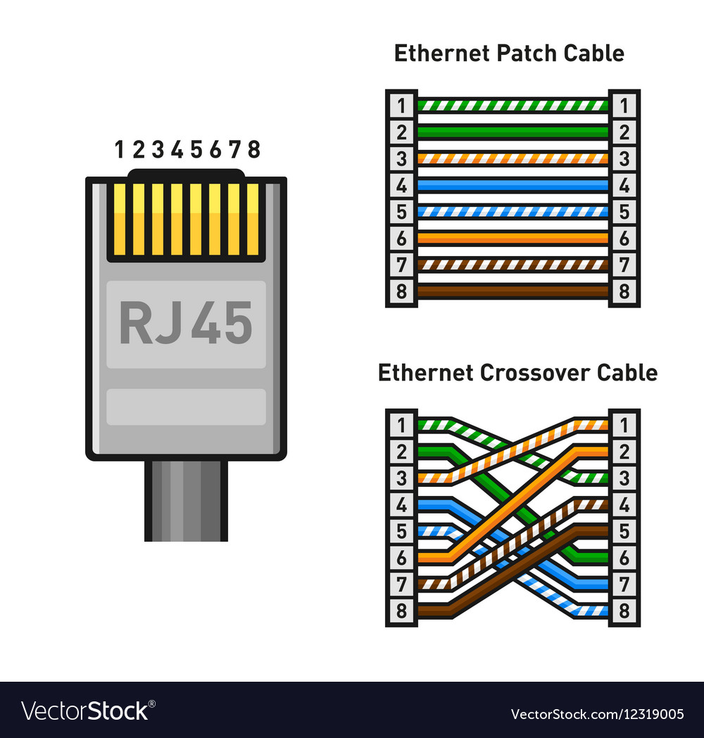 medium resolution of rj45 connector color code straight cable somurich com