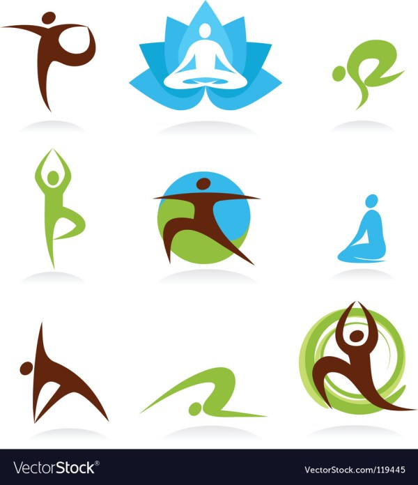 Zen And Yoga Logos Royalty Free Vector - Vectorstock