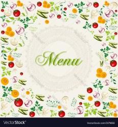 menu background food healthy vector royalty vectorstock
