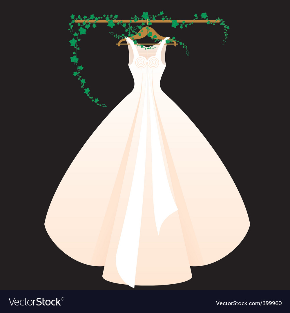 Wedding dress Royalty Free Vector Image