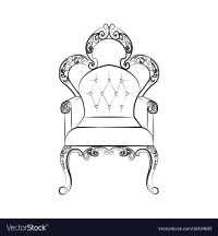 Classic royal chair with ornaments vector by CastecoDesign ...
