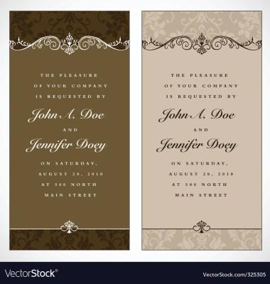 Mint And Peach Vector Wedding Invite
