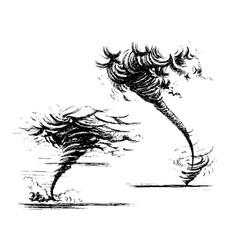 Cartoon hurricane tornado and typhoon characters Vector Image
