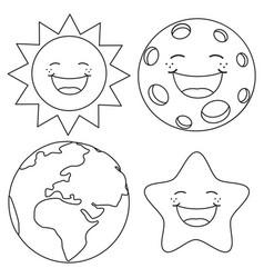 Mercury planet cartoon coloring page Royalty Free Vector