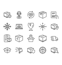 Logistics and Shipping Icons Royalty Free Vector Image