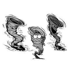 Smiling hurricane cartoon Royalty Free Vector Image