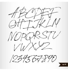 Handwritten calligraphic watercolor alphabet Vector Image