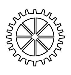 Gear wheel silhouette icon cog symbol Royalty Free Vector