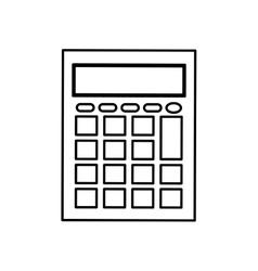 Calculator math device Royalty Free Vector Image