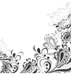 Black and white flourishes Royalty Free Vector Image