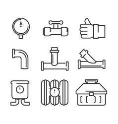 Plumbing heating logos Royalty Free Vector Image