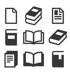 Book icon set simplicity theme Royalty Free Vector Image