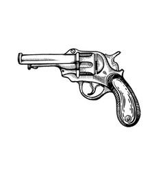 Crossed pistols Vintage gun pistol Royalty Free Vector Image