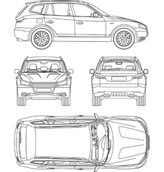 Vehicle Damage Inspection Form Sketch Coloring Page