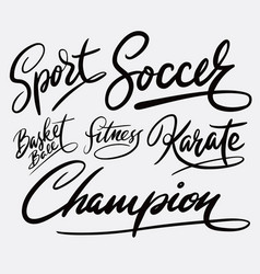 Football sport hand written typography Royalty Free Vector